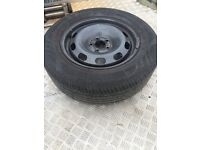 vw golf mk4 steel wheel with good tyre 195 65 r 15