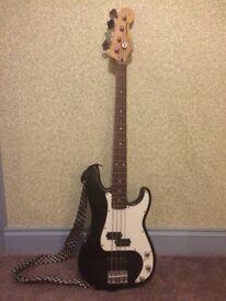 Genuine Fender Squire Precision Bass Guitar