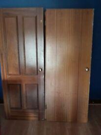 7 interior wood doors for sale- £70 in total,
