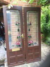 Double Mahogany Doors