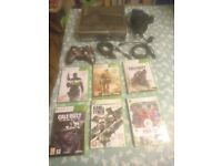 Xbox 360 S Modern Warfare Limited Edition Console with 320gb hard drive , 1x controller + 6x games