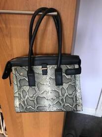 Linea large mock snake skin bag