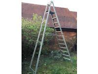 Aluminium platform ladder, 12 steps. Made by Welconstruct Birmingham.
