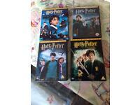 Harry potter dvds x4