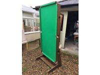 Good condition snooker table which folds into upright position.
