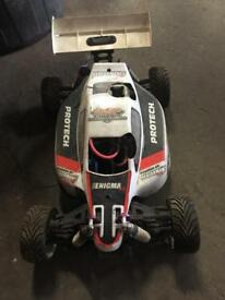 Radio controlled nitro buggy