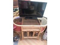 Conservatory basket furniture good condition some areas bleached with the sun on the fabric