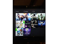 xbox one with 7 games all leads mic and one controller