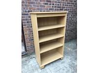 A large modern wood bookshelf