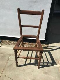 Edwardian cane seated chair.
