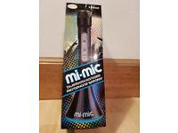 Mi-Mic Karaoke Microphone Speaker with Bluetooth and LED Lights - Black