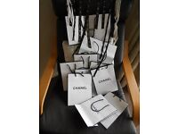 chanel store bags/ribbons