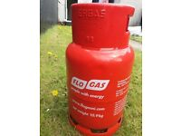 Gas cylinder with gas