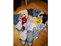 Bundle of baby boy clothes