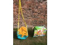 Kid's swing with both toddler and child seats