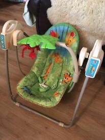 Fisher Price Tropical Jungle Musical Baby Swing