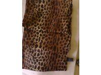 Unused with tags velvet Tie Rack leopardskin pattern scarf