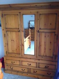 Durham Pine Double Wardrobe £300