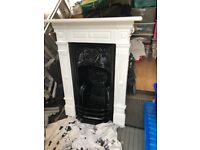 Wrought iron fireplace and surround