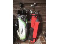 Golf clubs full set grafite shafts clubs two bags woods putters