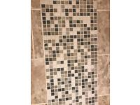 Mosaic tiles wall sheets wickes bathroom kitchen