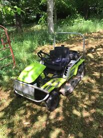 Grillo climber ride on lawnmower