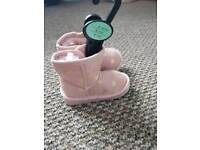 Pink infant ugg style boots