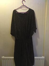 Boohoo black swing dress