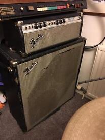 Vintage 60s Fender Bassman 50 & 2x15 Cab
