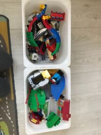 Plastic truck and trains
