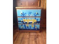child solid pine chest