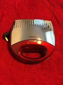 Breville toasted sandwich maker, metallic red and silver. Barely used. £10