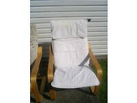 Ikea Poang rocking chairs - two with white upholtery