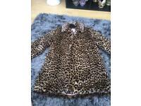 Children's fur effect coat