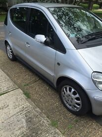 2 OWNER, FSH AND ONLY 48000 MILEAGE A140 SILVER AUTOMATIC MECEDES BENZ