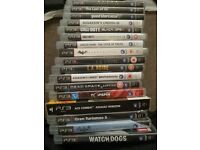 Selection of top PS3 games, all boxed.