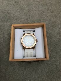 ASG men's white and rose gold Watch