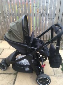 Khaki mothercare 3 wheel journey