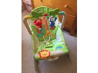 Fisher price jungle Baby vibrating bouncing chair