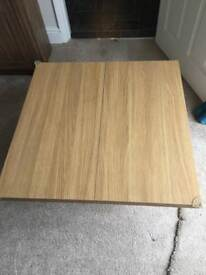 Light pine wood effect coffee table