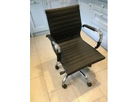 Very Stylish Part Leather and Chrome Office Chair