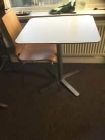 Small white Ikea table and 2 chairs