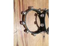Leather bracelet with Swarovski crystals
