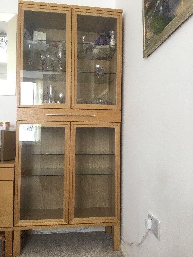 Display Unit Ikea Bjursta Oak In Gorebridge Midlothian