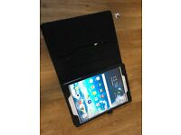 Discount on LIKE NEW Samsung Galaxy Tab A w/ leather case, screen protector and original box
