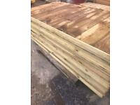 Vertical board fence panels