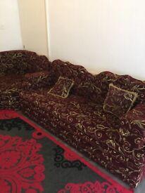 Sofa set 3+3+1corner reasonable condition