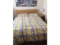 Wooden Double bed frame from IKEA
