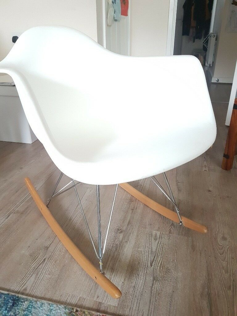 Contemporary White Rocking Chair In Fareham Hampshire Gumtree