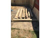 70x Wooden Fence Boarding